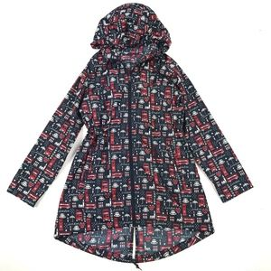 Denim Co Parka In A Pocket Rain Jacket XS
